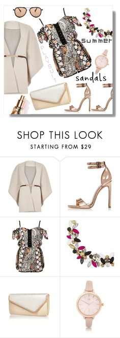 """Play suit & summer sandals"" by frenchfriesblackmg ❤ liked on Polyvore featuring River Island and G-Star Raw"