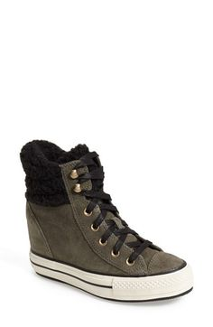Converse Chuck Taylor® All Star® Faux Shearling High Top Platform Sneaker (Women) available at #Nordstrom