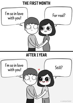 "Funny Comics Compare Fresh Relationships To The Ol' Comfortable Phase - Funny memes that ""GET IT"" and want you to too. Get the latest funniest memes and keep up what is going on in the meme-o-sphere. Cute Couple Comics, Couples Comics, Funny Couples, Funny Relationship Jokes, Relationship Comics, Relationship Goals, Relationships, Memes Amor, Amor Humor"