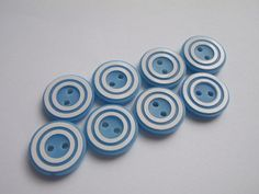 Hey, I found this really awesome Etsy listing at https://www.etsy.com/listing/124789082/8-light-blue-double-white-ring-buttons