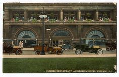 Auditorium Hotel, Chicago  |  Adler & Sullivan, architects, image from 1912,