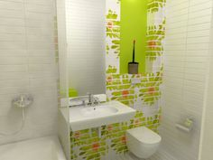 Here's a great idea of how to add embellishment on your #bathroom. Buy #tiles that you can piece together to form a pattern of your own preference.