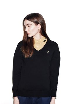 Fred Perry - Reissues V-Neck Jumper Black