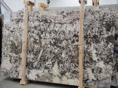 White Torroncino #Granite #slab Sold By Milestone Marble | Size: 112 X 69