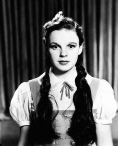 """Judy Garland in a hairstyle test for """"The Wizard of Oz"""" (1939)"""