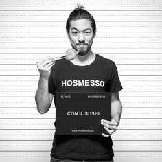 #HOSMESSO con il #sushi, perché sono #originale! E tu, cos'hai smesso? http://www.social.hosmesso.eu #tshirt #panino #food #eat #bacchette