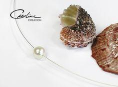 Halsreife - Silberreifen mit echter Zuchtperle - ein…