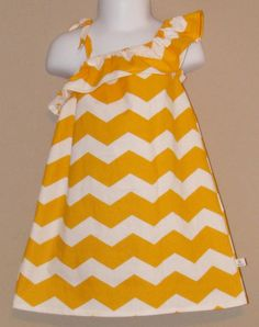 You Are My Sunshine - Ruffled One Shoulder Chrevron Dress - Baby Toddler Girl Cotton Dress - Perfect for Spring Summer