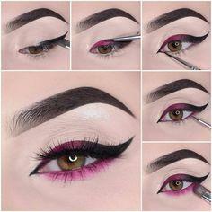 Eye Makeup Steps, Makeup Eye Looks, Beautiful Eye Makeup, Eye Makeup Art, Clown Makeup, Eyeshadow Makeup, Fairy Makeup, Pretty Makeup, Dead Makeup