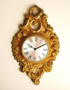 Vintage Wall Clock Mid Century Hollywood by DewyMorningVintage, $35.00