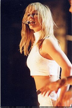 Britney Spears performing at the Teen Choice Awards in 1999.