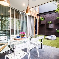 The high drama Block Glasshouse terrace reveals - The Interiors Addict Outdoor Rooms, Outdoor Living, Outdoor Furniture Sets, Outdoor Decor, Outdoor Ideas, Indoor Outdoor, The Block Australia, The Block Glasshouse, Alfresco Area