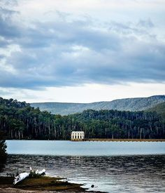 Completed in 2014 in Lake Saint Clair, Australia. Images by Sharyn Cairns, Adam Gibson, Stuart Gibson. Located just inside the Tasmanian Wilderness World Heritage Area, Pumphouse Point was originally constructed as part of Tasmania's hydro electric. Tasmania Road Trip, Tasmania Travel, Cairns, Lake Hotel, Lakeside Hotel, Waterfront Cottage, Sainte Claire, Nature Sauvage, Pump House