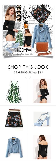 """""""Black Bodysuit from ROMWE"""" by mamiigou ❤ liked on Polyvore featuring Nika and Anja"""