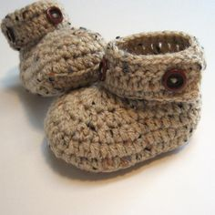 Crochet baby boy shoes  Booties  Boots  by ThoughtfulStitches, $17.00