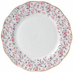 Royal Albert Rose Confetti Formal Vintage Dinner Plate