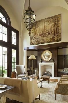 English Country - Harrison Design Harrison Design, Atlanta Homes, House And Home Magazine, Beautiful Interiors, Beautiful Homes, Interiores Design, Contemporary Furniture, Great Rooms, Home Art