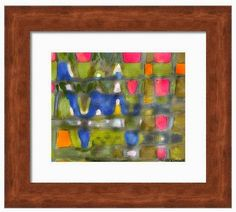 Mixed Media Artists International: Beatnik Mixed Media Abstract Framed Painting by Oregon Coast Artist and Photographer Lisa McKinney