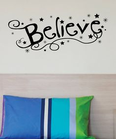 Look at this 'Believe' Decal on #zulily today!