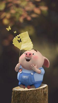 Pig Wallpaper, Cute Girl Wallpaper, Cute Wallpaper Backgrounds, Disney Wallpaper, This Little Piggy, Little Pigs, Cute Piglets, Pig Illustration, Funny Pigs