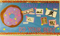 Fun and sweet donut board. RA bulletin board idea