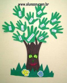 40 Ideias para O Dia Mundial do Meio Ambiente - Tema Árvores - Educação Infantil - Aluno On Diy And Crafts, Crafts For Kids, Arts And Crafts, Paper Crafts, Classroom Board, Classroom Decor, Summer Bulletin Boards, Kindergarten Portfolio, Earth Day Crafts