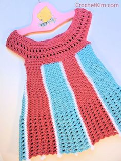 Carousel Baby Dress pattern by Kim Guzman – Crochet Crochet Toddler Dress, Toddler Dress Patterns, Crochet Girls, Crochet Baby Clothes, Crochet For Kids, Crochet Dresses, Moda Crochet, Free Crochet, Easy Crochet