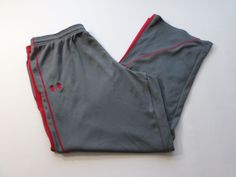 Under Armour Sweatpants Mens 2XL XXLarge Gray Red Athletic Gym Running Active #UnderArmour #Pants