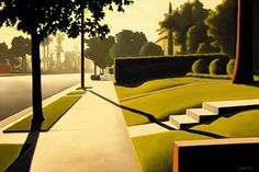 "From Kenton Nelson's website: ""Nelson traces his interest in painting back to his great uncle, Roberto Montenegro, renowned Mexican muralist and Modernist. Contemporary Landscape, Urban Landscape, Abstract Landscape, Contemporary Artists, Landscape Paintings, Et Tattoo, Grant Wood, Art For Art Sake, Art Plastique"