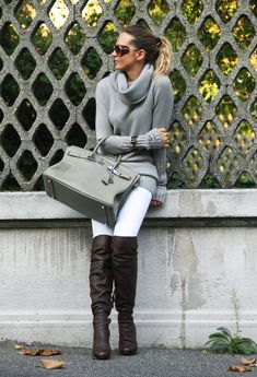 MIU MIUOver The Knee 1  J BRANDJeans 2  TINITurtlenecks 3  HERMESBags 4  GIORGIO ARMANIGlasses / Sunglasses 5
