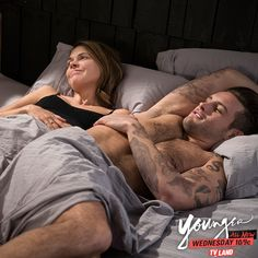 Happy days. Click to watch Nico Tortorella and Sutton Foster in the latest episode of Younger on TV Land.