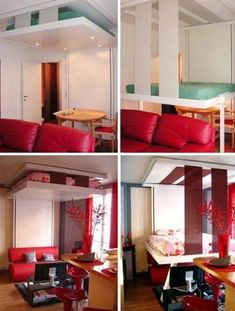 DIY Up-Down Bed To Save Space - Find Fun Art Projects to Do at Home and Arts and Crafts Ideas