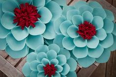 felt flowers from etsy - aqua and red Cacti And Succulents, Planting Succulents, Planting Flowers, Felt Flowers, Beautiful Flowers, Beautiful Beautiful, Color Palette Generator, Cactus Y Suculentas, Exotic Flowers