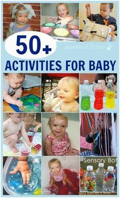 What can baby do?  TONS!  Here are 50 super fun activities just for baby
