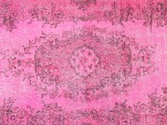 4x7 Ft (122x213 cm) Fuchsia Pink Color OVERDYED Vintage Turkish Rug,  Handmade Carpet, Wool & Cotton Blend, FREE Shipping