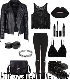 Imagen de black, dark, and goth - bestfashion_pintradio Punk Outfits, Cute Casual Outfits, Mode Outfits, Grunge Outfits, Girl Outfits, Fashion Outfits, Womens Fashion, Fashion Skirts, Dark Fashion