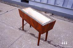 Small Danish modern mid century Brazilian rosewood planter box.
