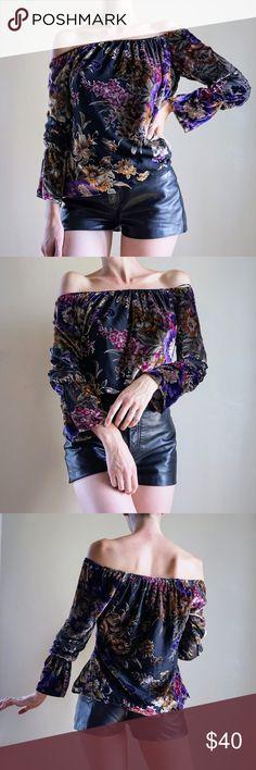 3888731cdf Astars burnout velvet off the shoulder blouse Burnout velvet off the  shoulder blouse. New with