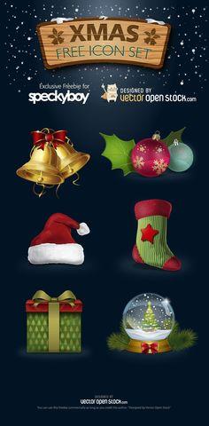 Free Christmas Vector Icon Set