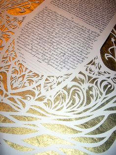 Traditional Hamsa Papercut Ketubah by jerise on Etsy, $500.00
