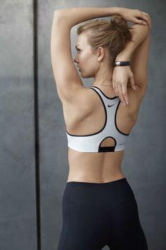 Karlie Kloss, fitspiration, workout, stretch, fitness