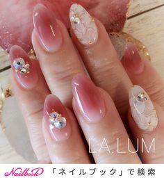あえてワンカラーではなく、じわっと色づく秋色ピンクが可愛らしい💕清楚な手描きのフラワーアートと相まって乙女心をくすぐる仕上がりになっていますね💐(id:3470984) Korean Nail Art, Korean Nails, Elegant Nails, Stylish Nails, Cute Nails, Pretty Nails, Hair And Nails, My Nails, Kawaii Nails
