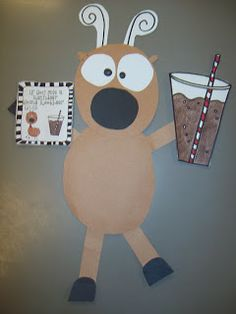 First Grader...at Last!: Reindeer Games. So cute If you give a reindeer a root beer craft