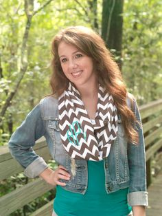 Hey, I found this really awesome Etsy listing at http://www.etsy.com/listing/163107674/taupe-monogrammed-chevron-infinity-scarf