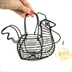 #WireEggBasket #ChickenBasket #EggBasket Wire Rooster French Farmhouse egg basket Chicken Egg Basket by EllasAtticVintage on Etsy