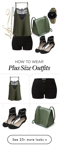 """Untitled #534"" by suada24-07 on Polyvore featuring LE3NO, CLUSE and WALL"