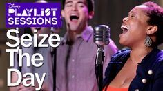 Newsies Cast | Seize the Day | Disney Playlist Sessions. THIS IS WONDERFUL. Angela Grovey is my idol.