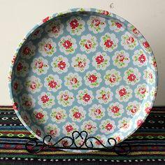 10 PC Set Decorative Tin Oversized Tray Dish