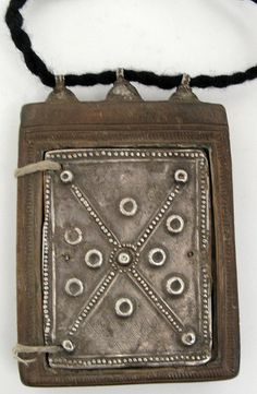 Silver and wood double sided icon by ann porteus, Sidewalk Tribal Gallery Ethiopian coptic
