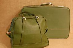 Vintage American Tourister Triump 2 piece Luggage, vintage suitcase, vintage carry on bag, vintage green luggage, over night bag, - http://oleantravel.com/vintage-american-tourister-triump-2-piece-luggage-vintage-suitcase-vintage-carry-on-bag-vintage-green-luggage-over-night-bag